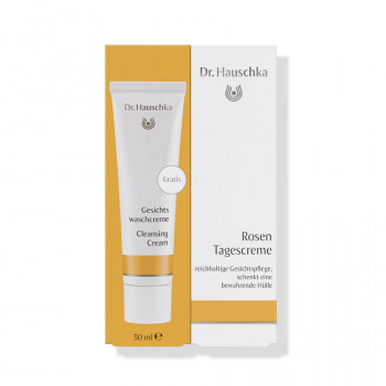 Dr.Hauschka Rosen Tagescreme mit gratis Gesichtswaschcreme