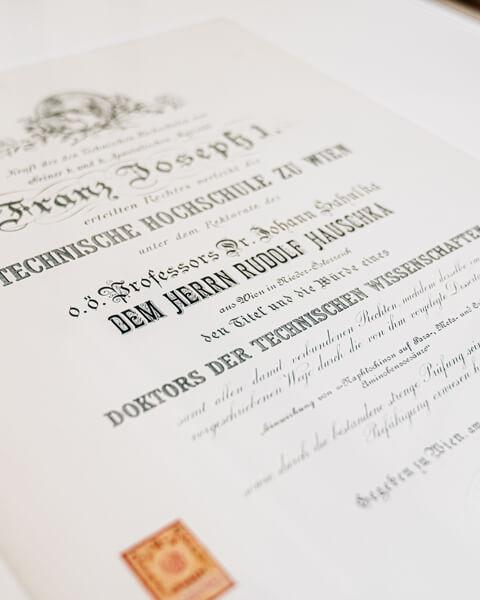 Doktortitel Rudolf Hauschka